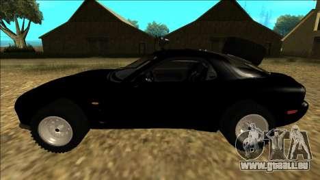 Mazda RX-7 Rusty Rebel pour GTA San Andreas laissé vue