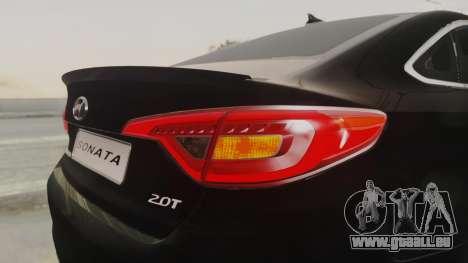 Hyundai Sonata Turbo 2.0 2015 V1.0 Final für GTA San Andreas obere Ansicht