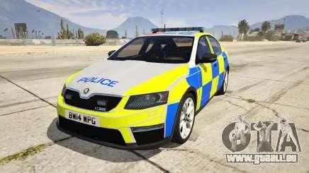 2014 Police Skoda Octavia VRS Hatchback pour GTA 5