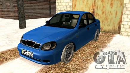 Daewoo Lanos 2001 Winter für GTA San Andreas