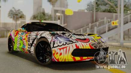Chevrolet Corvette Stingray C7 2014 Sticker Bomb pour GTA San Andreas
