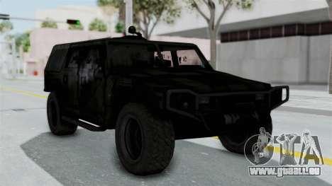 HMLTV-998 BULDOG from Crysis 2 pour GTA San Andreas sur la vue arrière gauche
