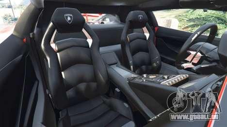 GTA 5 Lamborghini Aventador v1.0 droite vue latérale