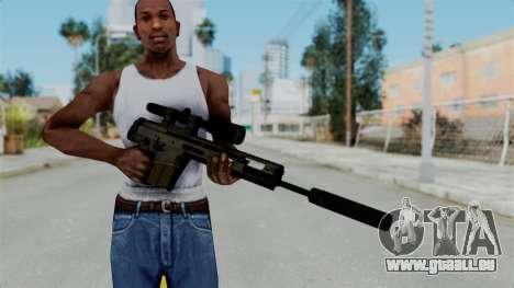 SCAR-20 v2 Folded pour GTA San Andreas troisième écran