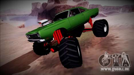 1969 Plymouth Road Runner Monster Truck für GTA San Andreas obere Ansicht
