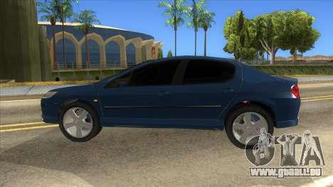 Peugeot 407 pour GTA San Andreas laissé vue