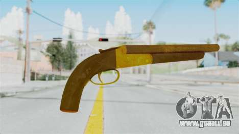 Double Barrel Shotgun Gold Tint (Lowriders CC) für GTA San Andreas zweiten Screenshot