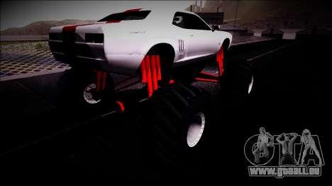 GTA 5 Bravado Gauntlet Monster Truck pour GTA San Andreas sur la vue arrière gauche