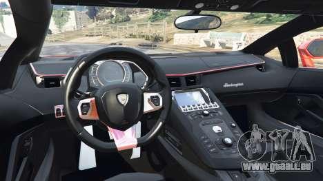 GTA 5 Lamborghini Aventador v1.0 arrière droit vue de côté