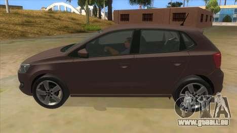 Volkswagen Polo 6R 1.4 pour GTA San Andreas laissé vue