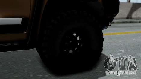 Toyota Land Cruiser 2013 Off-Road pour GTA San Andreas sur la vue arrière gauche