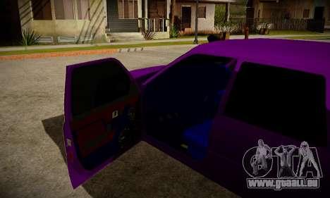 IZH 2126 L'APD pour GTA San Andreas sur la vue arrière gauche