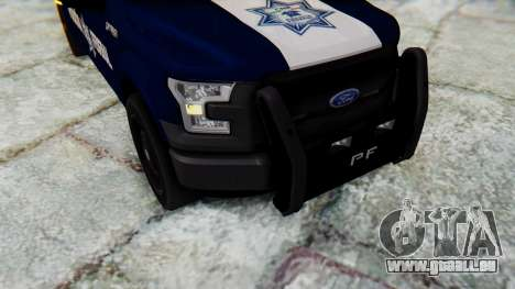 Ford F-150 2015 Policia Federal pour GTA San Andreas vue arrière