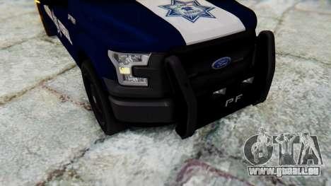 Ford F-150 2015 Policia Federal für GTA San Andreas Rückansicht