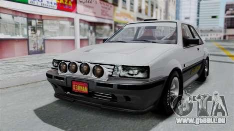 GTA 5 Karin Futo Rally Car v2.0 pour GTA San Andreas