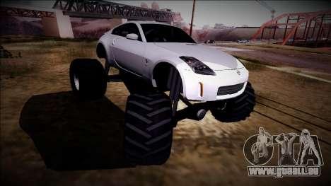 Nissan 350Z Monster Truck pour GTA San Andreas vue intérieure