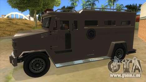 GTA 5 Brute Riot Police für GTA San Andreas linke Ansicht