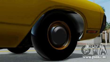 Dodge Polara 1971 Kaufman Cab für GTA San Andreas zurück linke Ansicht