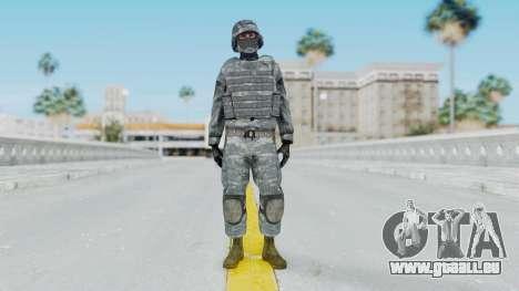 Acu Soldier Balaclava v2 pour GTA San Andreas deuxième écran