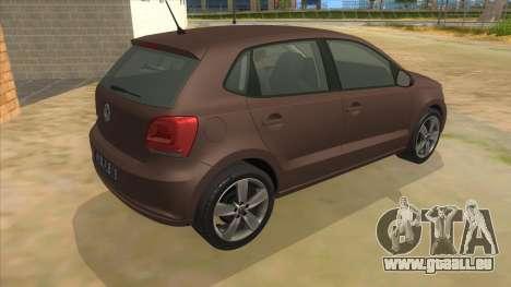Volkswagen Polo 6R 1.4 pour GTA San Andreas vue de droite