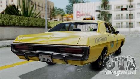 Dodge Polara 1971 Kaufman Cab für GTA San Andreas linke Ansicht