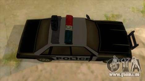 Police Car from Manhunt 2 für GTA San Andreas Innenansicht