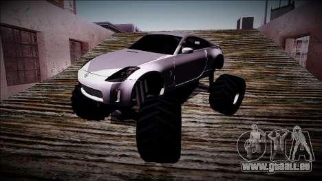 Nissan 350Z Monster Truck pour GTA San Andreas vue de côté