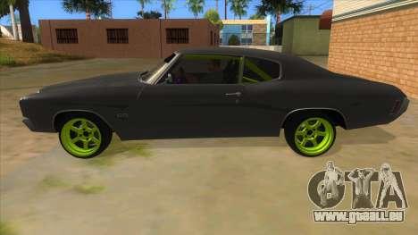 1970 Chevrolet Chevelle SS Drift Monster Energy für GTA San Andreas linke Ansicht