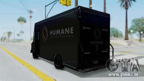 Brute Boxville Laboratorios Humane pour GTA San Andreas laissé vue