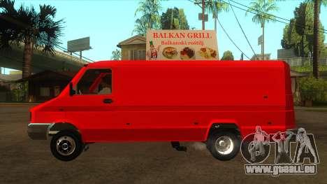 Zastava Daily 35B Special pour GTA San Andreas laissé vue