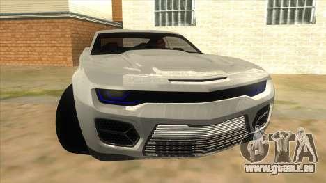 Chevrolet Camaro DOSH tuning MQ für GTA San Andreas Rückansicht
