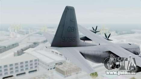 KC-130J Harvest Hawk pour GTA San Andreas sur la vue arrière gauche