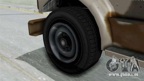 GTA 5 HVY Barracks OL IVF pour GTA San Andreas sur la vue arrière gauche