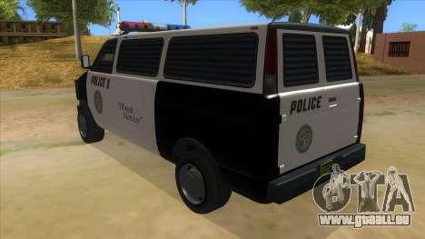GTA 5 Burrito Transport pour GTA San Andreas sur la vue arrière gauche
