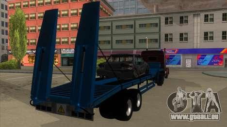 Trailer with Hydaulic Ramps pour GTA San Andreas vue de droite