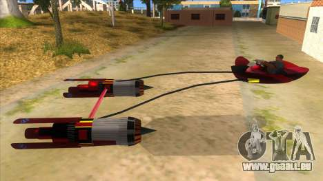 StarWars Anakin Podracer für GTA San Andreas linke Ansicht