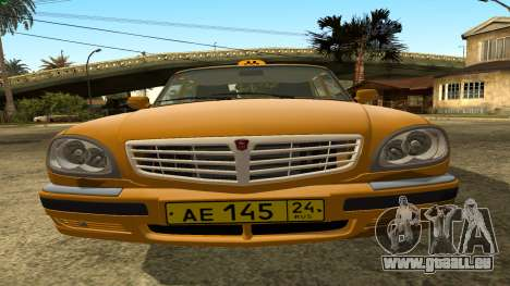GAZ 31105 Volga Taxi FIV pour GTA San Andreas vue intérieure
