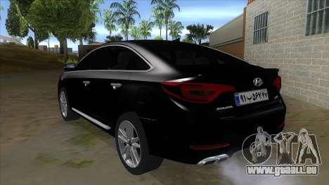 Iranian Hyundai Sonata Turbo für GTA San Andreas zurück linke Ansicht