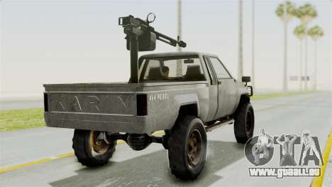 GTA 5 Karin Technical Machinegun für GTA San Andreas linke Ansicht