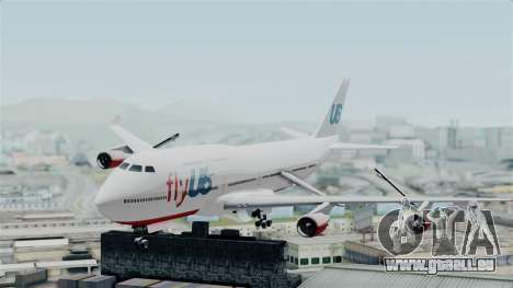 GTA 5 Jumbo Jet v1.0 FlyUS für GTA San Andreas zurück linke Ansicht