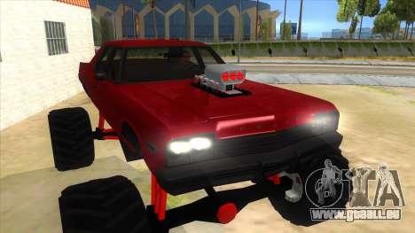 1974 Dodge Monaco Monster Truck für GTA San Andreas Rückansicht