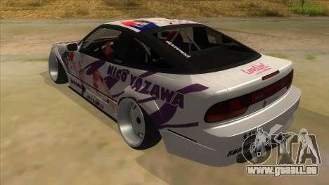 Nissan 240SX Stance Nico Yazawa Itasha Livery pour GTA San Andreas sur la vue arrière gauche
