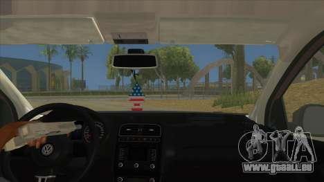 Volkswagen Polo 6R 1.4 pour GTA San Andreas vue intérieure