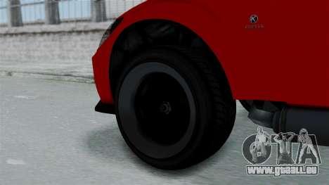 GTA 5 Karin Sultan RS Stock PJ für GTA San Andreas zurück linke Ansicht