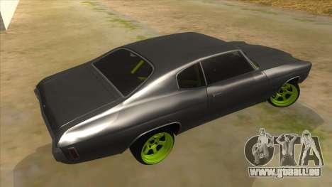 1970 Chevrolet Chevelle SS Drift Monster Energy für GTA San Andreas rechten Ansicht