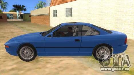 BMW 850i E31 pour GTA San Andreas laissé vue