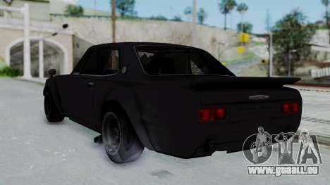 Nissan Skyline 2000GTR Speedhunters Edition pour GTA San Andreas laissé vue