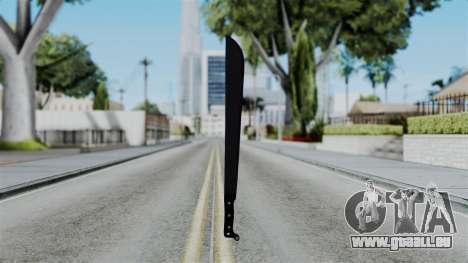 No More Room in Hell - Machete für GTA San Andreas dritten Screenshot