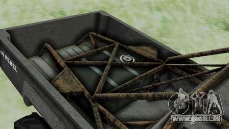 GTA 5 Karin Rebel 4x4 Worn für GTA San Andreas Rückansicht