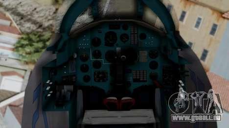 MIG-25 Foxbat pour GTA San Andreas vue de droite